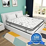 Full Size Mattress, 10 Inch Memory Foam and Innerspring Hybrid Mattress in a Box, Medium Firm Feel, Motion Isolation, Breathable & Pressure Relief Bed Mattress, Risk-Free 100 Night Trial
