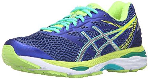 ASICS Women's Gel-Cumulus 18 Running Shoe, Asics Blue/Silver/Safety Yellow, 5 M US