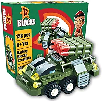 TOTTA Mighty Raju Missile Launcher tankdesign Building Block Play Set for Boys Girls & Kids (158 Pcs)