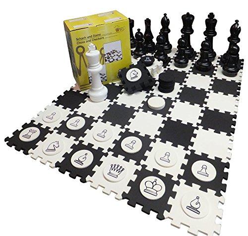 SchachQueen - E383 - échecs de la terrasse et demonstration du table, échecs et dame 3D