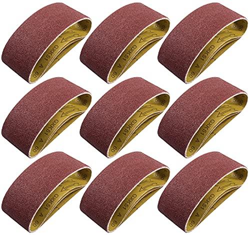 S SATC Belt Sander 20PCS 3x18 Sanding Belt Sanding Belts Belt Sander Paper (3 Each of 60, 80, 120,150,240,400 Grits, 2 of 40 Grits) Aluminum Oxide