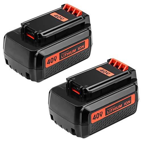 2.5AH Replace for Black and Decker 40V Battery LBX36 LBXR36 LBXR2036 LBX2040 Lithium Ion Battery 2-Pack