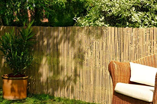 Best Artificial Real Bamboo Slat Fencing Screening Roll for Garden Outdoor Privacy - 4m x 1.8m