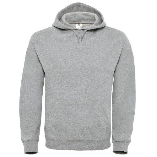B&C Collection - Sweat-Shirt à Capuche - Manches Longues - Homme - Gris - XXX-Large
