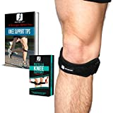 Patella Knee Tendon Strap for Women and Men - Adjustable Compression Brace –