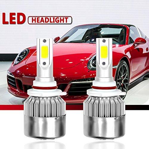 Malcam HB4/9006 LED Headlight Bulbs All-in-One Conversion Kit, 7600LM 72W 6000K Cool White COB, IP68 Waterproof LED Headlight Bulb - 3 Yrs Warranty