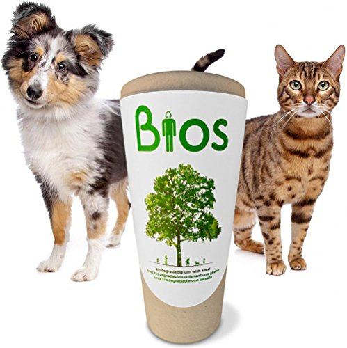 Bios Memorial Pet Loss Urn for your Dog, Cat, Bird, Horse or Small Animal. Death becomes a transformation as your beloved pet