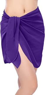ChinFun Women's Soft Wrap Beach Swimwear Short/Knee Length/Long Cover Up Pareo Swimsuit Wrap Solid/Patterns