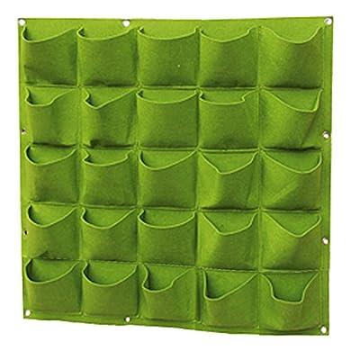 Foto di Teerfu 25 Pocket giardino verticale Planter multi Pocket Wall Mount Living crescere borsa in feltro per interni/esterni pot