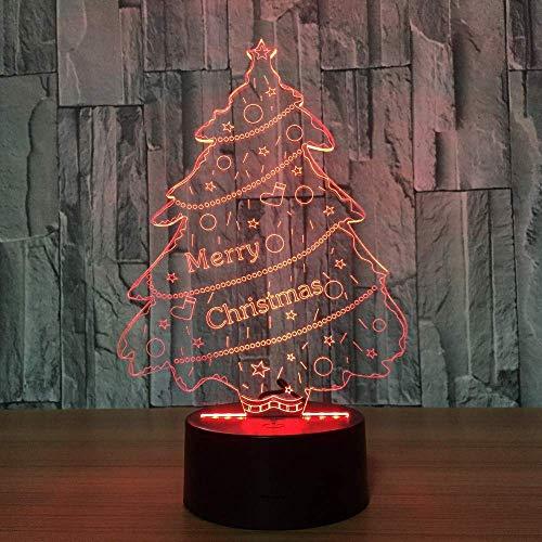 Árbol 3D Phantom Light Atmosphere Light USB Night Light Touch Switch 7 Cambio de color de la habitación Luz Decoración de la casa