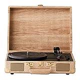KDMB Tocadiscos Vintage Tocadiscos de 3 transmisiones por Correa...
