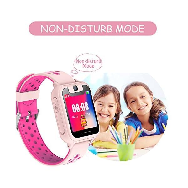 PTHTECHUS Telefono Reloj Inteligente LBS Niños - Smartwatch con Localizador LBS Juegos Despertador Camara Linterna per… 9