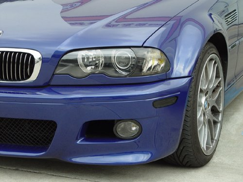 Smoke Front Corner Bumper and Side Marker Lights for BMW E46 M3 - 2002 to 2006