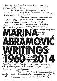 Marina Abramović: writings 1960-2014