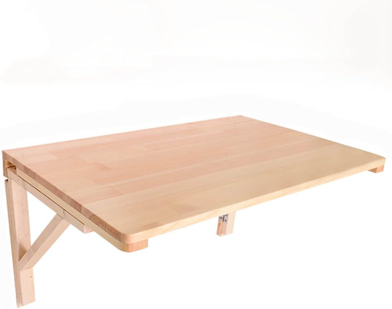 Table pliante Table pliante en bois massif, table à hommeger murale, table à usage multiple pliable, Table pliable (Couleur   A, taille   70  40cm)