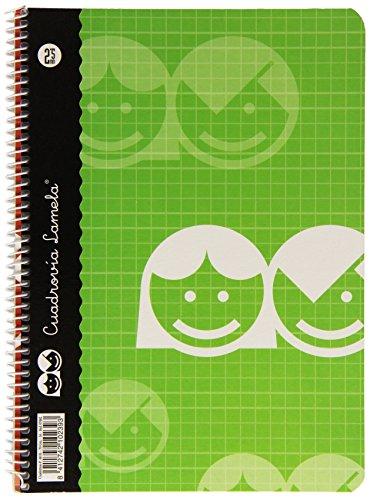 Lamela, Cuaderno básico, 40 hojas, 2.5 mm, 07002, Surtido: Modelos/Colores Aleatorios,