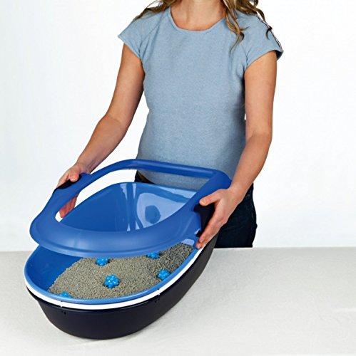 Trixie 40152 Berto Katzentoilette, 39 × 22 × 59 cm, hellblau/dunkelblau/granit - 2