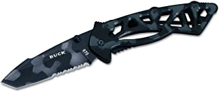 Buck Knives 0870 Bones Partially Serrated Tactical Folding Knife with Clip