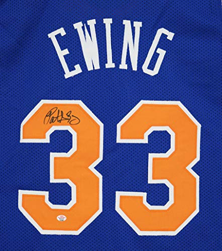 Patrick Ewing New York Knicks Signed Autographed Blue #33 Custom Jersey PAAS COA