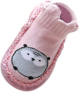 ASHOP Zapatos de bebé, Zapatos de bebé, ASHOP Niña Niño Casuales Zapatillas del Otoño Invierno Flock Deporte Antideslizante del Zapatos Calcetines de Dibujos Animados Animal Slipper Boots 0-24 Meses