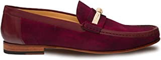 Segura Mens Luxury Formal Loafers - Italian Calfskin Slip-On Moccasin with Leather Sole - Handcrafted in Spain - Medium Width