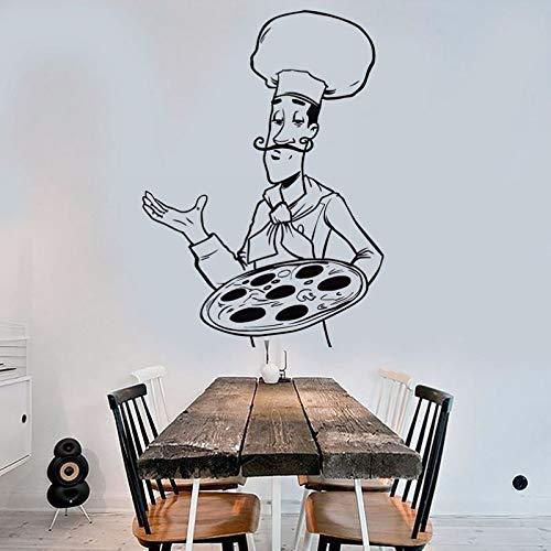 Tianpengyuanshuai stickers voor pizza, restaurant, vinylstickers, muurkunst, decoratie