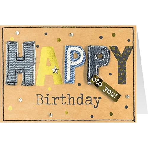 Sheepworld, Gruss und Co. - 90741 - Klappkarte, mit Umschlag, Jeans, Nr. 9, Geburtstag, Happy Birthday to you!