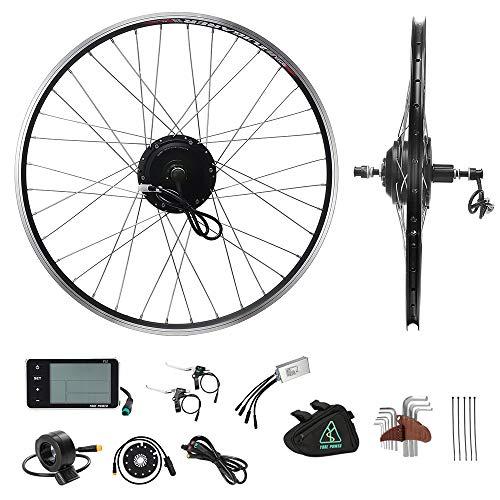 """YOSE POWER E-Bike Conversion Kit 36V350W 28\""""(700C) Heckmotor Steckkranz Elektrofahrräder Umbausatz Cassette 28 Zoll Schwarz mit LCD Display"""