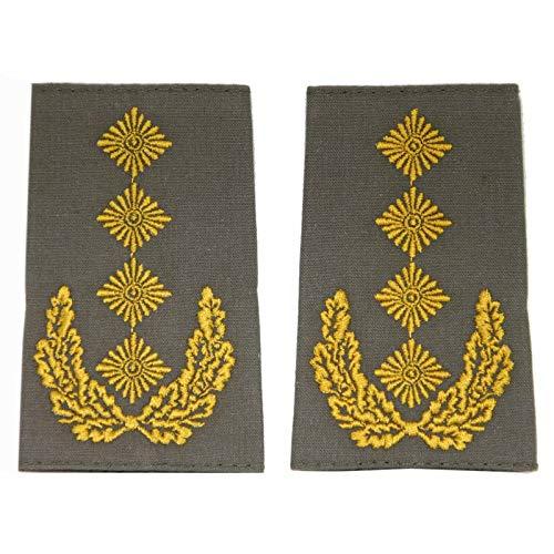 baum-m gmbh Rangschlaufen für Schulterklappen für die Deutsche Bundeswehr Heer oliv mit goldenem Stick General