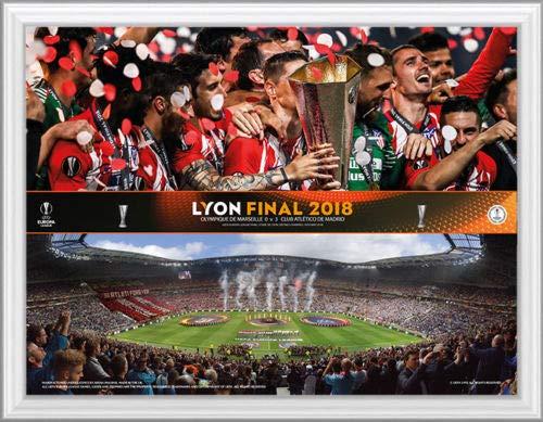 Europa League Final 2018 - Montura para Trofeo y alineación del Atlético de Madrid/Marsella