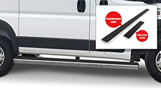 APS iBoard Running Boards (Nerf Bars Side Steps Step Bars) Compatible with 2014-2020 Dodge ProMaster Full Size Van 118 inches Wheelbase (Silver Powder Coated 5 inches)