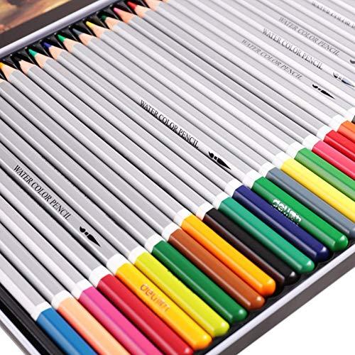 Color Pencil 24/36/48/72 Kleur Wateroplosbare Kleur Lead Groothandel Kleurplaten Schilderij Pen Iron Box 72 colors