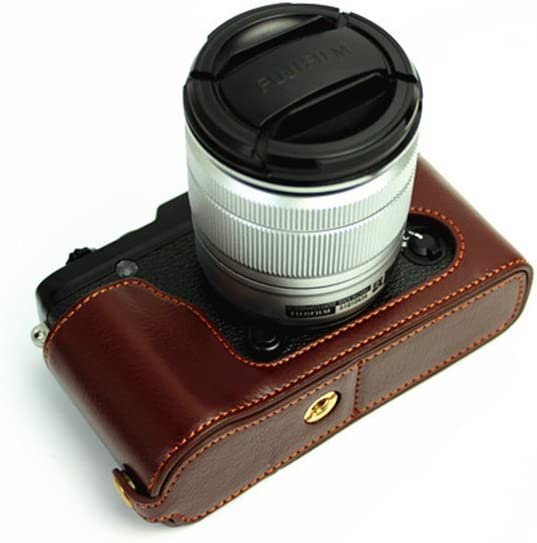 XE1 Time sale Louisville-Jefferson County Mall Case BolinUS Handmade Genuine Half Camera Real Leather