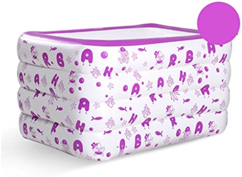 Aufblasbare Badewanne, Verdickung Kind Schwimmbad Baby Warm halten Badewanne ( Farbe    2 )