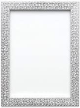 Memory Box Taille Cadre européen - Mosaïque à Effet Miroir Plat Brillant Cadre Photo/Photo/Affiche avec Vrai Verre - Moulure de 46 mm de Large et 20 mm de Profondeur - (A4), Argent Bling