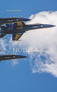 Notebook: Blue Angels F-18 hornet fly Navy jet airplane