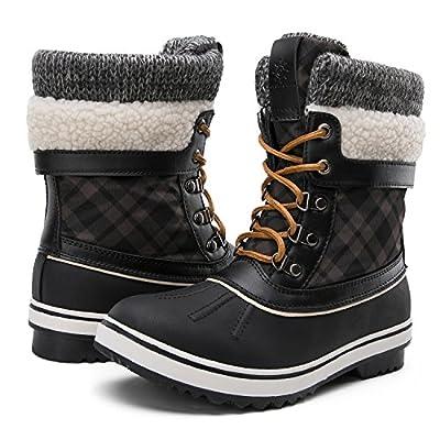 GLOBALWIN Women's Winter Snow Boots Black 10 D(M) US Women's