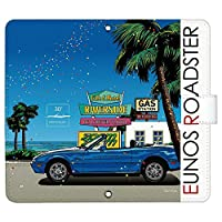 HUAWEI P30 lite Premium HWV33 ケース [デザイン:1.bl - c.サイドNA_sunny/マグネットハンドあり] マツダ ロードスター ファーウェイ hwv33 手帳型 スマホケース スマホカバー 手帳 携帯 カバー