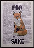 Wörterbuch-Seite, Fuchs, Hipster mit schräger Brille, im