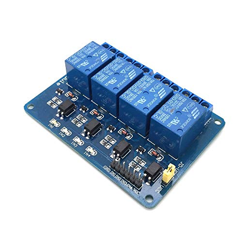 AptoFun Modulo Scheda relè a 4 canali per Arduino Raspberry Pi Arm AVR DSP PIC (4 canali)