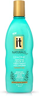IT Naturals 12-in-ONE Amazing Volumizing Leave In Treatment with Argan Oil, 10.2oz | Repairs, Protects & Strengthen Hairs | Creates Volume | Fights Frizz | Paraben Free