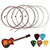 Bakiauli Bakiauli Cuerdas para Guitarra, Cuerdas de repuesto para guitarra para guitarra folk(2 Juegos)