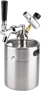 2L ミニステンレスビール樽 ビールサーバー 蛇口加圧 家庭用醸造工芸品 ビールディスペンサーシステム 個人醸造 ビール発酵、保管、調剤用