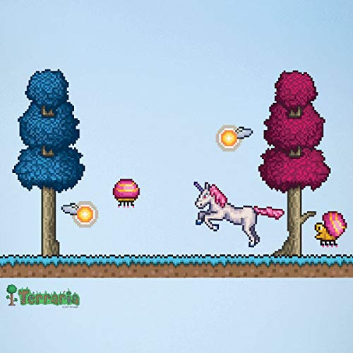 EricauBird Terraria Hallow Biome Add-on Wall Decal et - Terraria Gift - Terraria Birthday Party Decorations - Gaming Backdrop (#1314) Easy to Apply and Removable