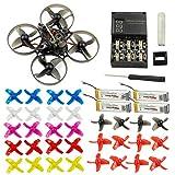 FEICHAO Happymodel Mobula7 Crazybee F3 Pro OSD 75mm Quadricoptère de Course Who FPV w / 700TVL caméra BNF Drone avec hélice supplémentaire de 10 Paires (Frsky Non-EU, Standard Version)