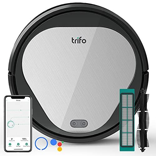 Robot Vacuum,Trifo Robot Vacuum Cleaner,3000Pa Strong Suction, Pet Hair,Self-Charging Robotic Vacuum, Wi-Fi Connected, APP, Alexa, Smart Mapping, 90min Runtime Hard Floors, Medium-Pile Carpets, No Mop