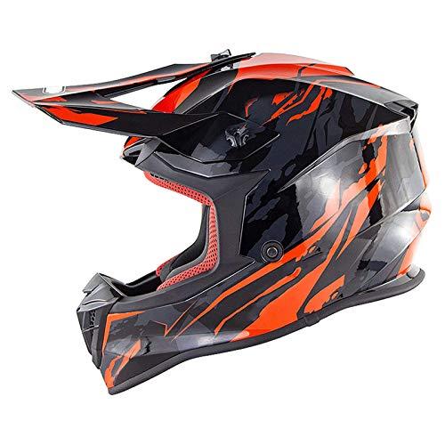 qwert Casco Todoterreno para Adultos y Niños, Certificado Dot/ECE, para ATV Motocross MX MTB BMX Offroad Motorcyle Dirt Bike Street Bike Casco con Gafas (56-61cm)