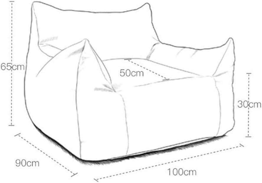HOMRanger Fauteuil Poire chaises Fauteuil Poire Adulte Fauteuil Lazy Sofa Fauteuil Poire pour Salon Pliant Balcon (Couleur: Bleu) 1