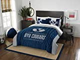 The Northwest Company 'Officially Licensed NCAA BYU Cougars ''Modern Take'' Twin Comforter and Sham', blue (1COL/86200/0004/RET)