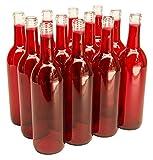 750 ml Red Bordeaux Bottles, 12 per case